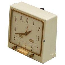 c1930's Cloth Cord Vintage Westclox Metal Body Alarm Clock Working