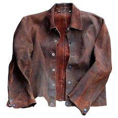 Vintage Guard Line Leather Welder Blacksmith Jacket