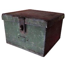 Rugged Handsome Made Metal Box with Lock and Key