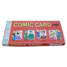 1972 Milton Bradley Comic Card Board Game Popeye Beetle Bailey Blondie Dagwood Hi & Lois
