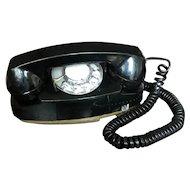 Vintage Princess Phone, Black, Rotary Dial, model 702BM, Bell System, Western Electric