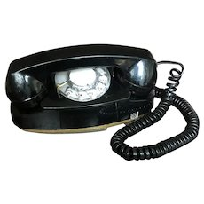 Vintage Princess Phone, Black, Rotary Dial, model 702BM, Bell System, Western Electric