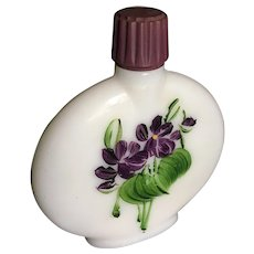 Milkglass Devon Violets Perfume bottle