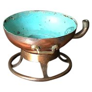 Old Fire Extinguisher Copper Bowl Candle Holder