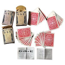 c1903 G.S.E. Gavitt's Stock Exchange Card Game 2 Sets