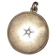Rose Gold Photo Locket with Set Stone