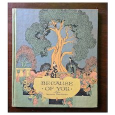 "c1926 Buzza Gift Book ""Because of You"" by Lawrence Hawthorne"