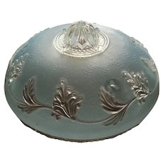 Baby Blue Three Hole Glass Vintage Lamp Shade