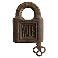Yale & Towne M.F.G. CO. Vintage Shamrock Lock with Key