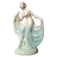 Art Deco Female Figural Ceramic Container