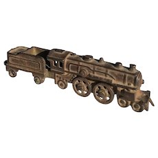 "6"" Cast Iron Locomotive with Tender"
