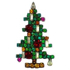 Coveted 1963 WEISS 6 Candle Christmas Tree Brooch Pin