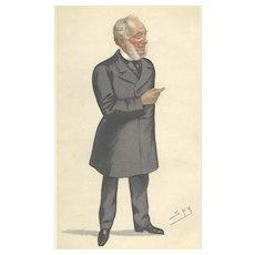 Victorian 'Spy' Print from Vanity Fair: Samuel Smiles: 'Self Help': 1882