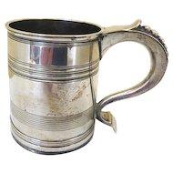 Sterling Silver Christening Mug: Mappin and Webb: Hallmarked 1923