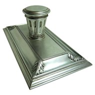 Aluminium Ink Stand in a Classical Style - very rare