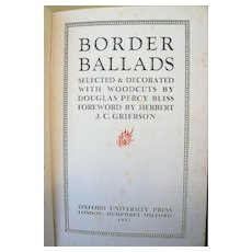 Border Ballads: Woodcuts by Douglas Percy Bliss: OUP: 1925