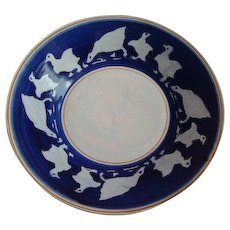 French Pottery dish with a pattern of Ducks