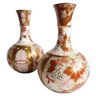 A pair of Kutani palette vases by Copeland