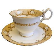 Coalport neo-Rococo Coffee Cup and Saucer: Pattern 4/708