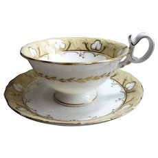 Coalport neo-Rococo Tea Cup and Saucer: Pattern 4/708