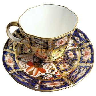 Royal Crown Derby Imari Pattern Demitasse Coffee Cup and Saucer