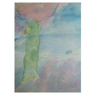 Watercolour: Diarmid's Pillar - Glen Lonan: The Power of the Stone
