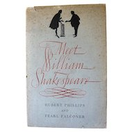 Meet William Shakespeare by Hubert Phillips and Pearl Falconer: The Cornleaf Press: First Edition: 1949: Signed
