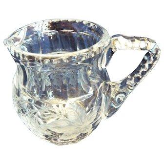 Very Heavy Early Nineteenth Century Cut Glass Jug