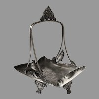 Victorian Silver Figural Birds Basket with Handle