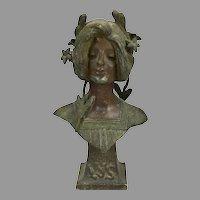 Art Nouveau Lady Bust LYS