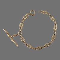 Victorian 14K Gold Link Watch Chain Bracelet