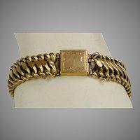Victorian 14K Gold Flexible Bracelet