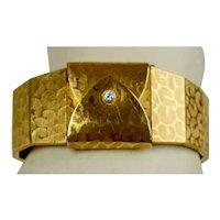 18K Gold Diamond Bracelet Watch by Tissot