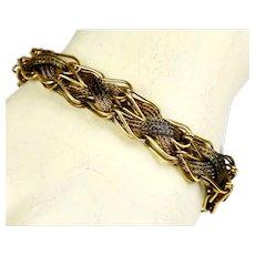 Unique Mid Century Woven GF Bracelet
