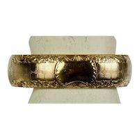 Victorian Wide Rose Gold Filled Bangle Bracelet