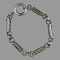 Victorian Chunky Sterling Link Watch Chain Bracelet