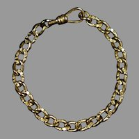 Victorian Gold Filled Link Chain Bracelet