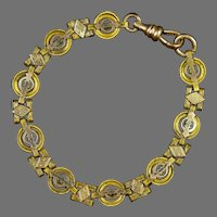 Victorian GF with Gold Fronts Book Chain Bracelet