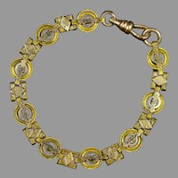 Victorian Gold Filled with Gold Fronts Book Chain Bracelet
