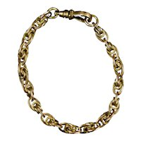 Victorian Gold Filled Intricate Link Chain Bracelet