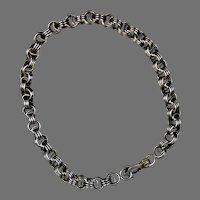 Victorian Silver Triple Link Chain Bracelet