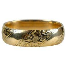 Victorian Wide Gold Filled Bangle Bracelet