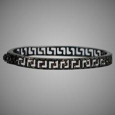 Rare Art Deco Sterling Silver Marcasite Bangle Bracelet