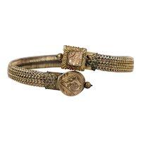 Victorian Etruscan Rev Stretch Bangle Bracelet