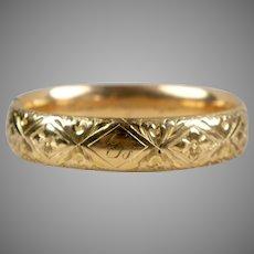 Victorian Wide GF Deep Chasing Bangle Bracelet