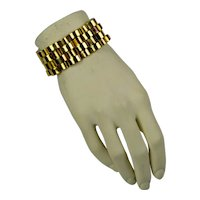 Retro Wide Vermeil Sterling Bracelet