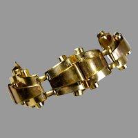 Vintage Retro Chunky Gold Bracelet