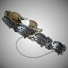 Margot de Taxco Sterling Silver Aztec Bracelet