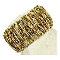 Wide Monet Openwork Gold Bracelet
