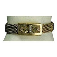 Victorian GF Adjustable Mesh Bracelet c.1884